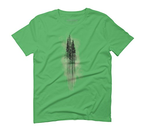 Watercolour PineTree Forest Green Men's Graphic T-Shirt - Design By Humans Green