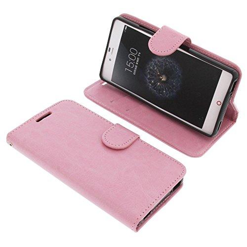 foto-kontor Tasche für ZTE Nubia Z9 Mini Book Style rosa Schutz Hülle Buch