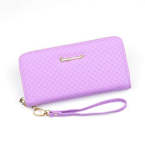 Damen Geldbörse Langer Reißverschluss große Kapazität Handtasche Mode geprägt Damen Geldbörse Wassermelone rot -