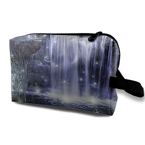 Reise-hängende Kosmetiktaschen Shimmery Mountain Stream Multi-Functional Toiletry Makeup Organizer Hanging Cosmetic Bag - Tasche Nyx Make-up