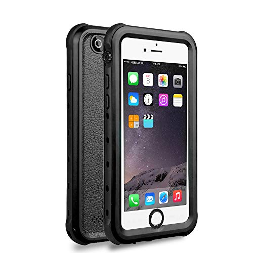 ChuWill iPhone 6 wasserdichte Hülle, iPhone 6s Schutzhülle, für Schnorcheln & Schwimmen Haltbarkeit Staubdicht Schneedicht stoßfest Handyhülle für iPhone 6/6s (4.7 inch) - Schwarz