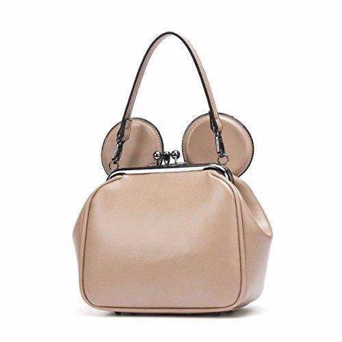 Damen-Mode Schulter Messenger Bag Kette Kätzchen Tasche Khaki