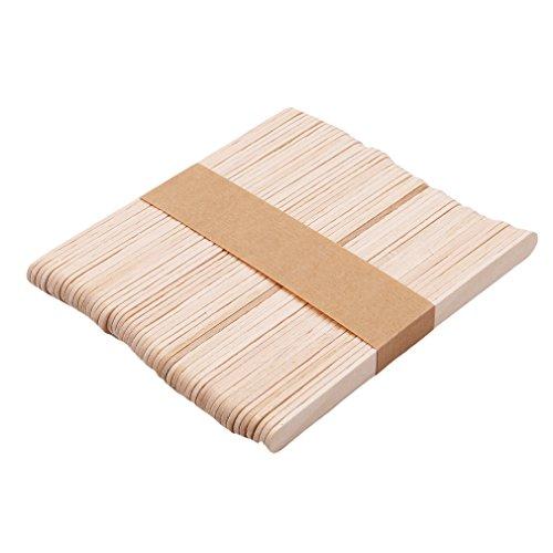 Pinhan Holz Eis am Stiel Eis Stick Kinder Handgemachte Kunst Werkzeuge Puzzle Handmade DIY Material Kinder Kreatives Spielzeug Holz Eis Stick, Kleine Grundfarbe (Hand Made Puzzles)