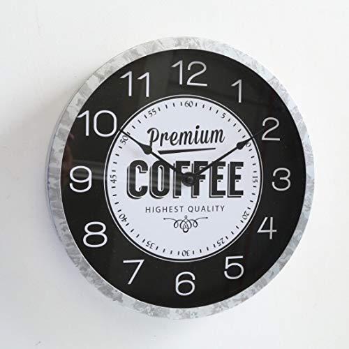 06f0af68cbf8 B.H.C. Reloj de Pared Redondo Grande en Estilo Vintage