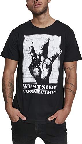 MERCHCODE Herren Westside Connection T-Shirt, Black, L