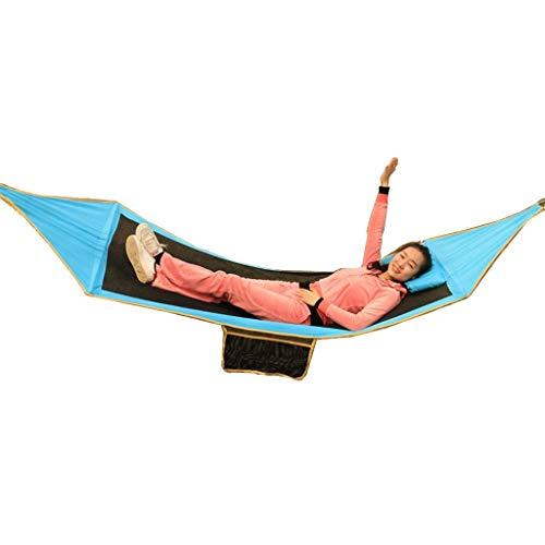 Wghz Hängematte Atmungsaktiv Ultraleicht Reisecamping   150 KG Gewicht, 280 cm * 91 cm Outdoor Single Doppel Anti-roll Outdoor Indoor Schlafen Camping Tragbare Schaukel Stuhl Faule UOMUN (Farbe: (Roll-schlafsack Einfache)