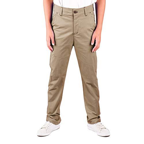 DOCOO Pantalones-niños Chino-Pant Casuales Slim-Fit Tapered-Stretch Pantalón Chino elástico de Corte Entallado, con Efecto Lavado y cómodo Escolares para niños algodón Pantalones