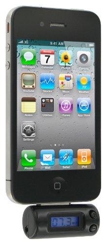 Kit - Trasmettitore FM compatibile con dispositivi iPod/iPhone/iPad, colore: Nero