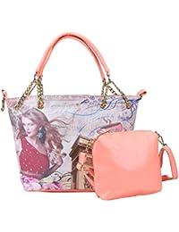 DESENCE Women & Girls Stylish Handbag/Combo Handbag/Bag In Bag For College/School/Travel -Leather (PU) - 7 Liters