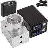 SEAAN Kit pressa di calore , kit piastre in alluminio 6061, scatola di controllo della temperatura doppia PID con batteria di riscaldamento, cavo di alimentazione e 2 aste di riscaldamento