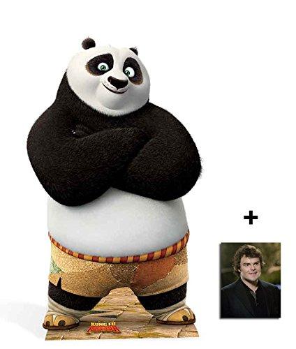 Po Ping Kung Fu Panda Lebensgrosse Pappfiguren / Stehplatzinhaber / Aufsteller - Enthält 8X10 (25X20Cm) starfoto (Ping Film)