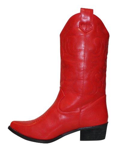 Bottes santiags western modèle Arizona petites tailles Rouge