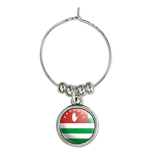 Ac-flag (Wein Glas Charme Drink Marker Land National Flagge A-C Abkhazia National Country Flag)