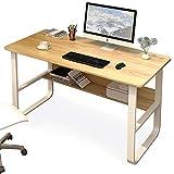 BGROEST-hm Tavolo da Scrittura con Anima Cava Computer Desk Studio Studio Writing Table Office Desk Workstation Studio scrivania con Telaio in Metallo (Colore : Natural, Dimensione : 100x72x60cm)