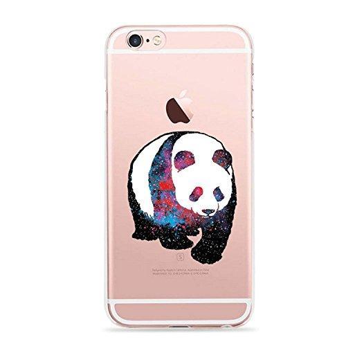 Pacyer® iPhone 6/6s Custodia Panda TPU Case Transparente Protettivo Skin Shell Case Cover Per Apple iPhone 6 6s (4,7) 12