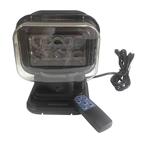SXMA LED-Suchscheinwerfer-Arbeitslicht 360 Grad 50W drahtloser Fernsteuerungs-Suchscheinwerfer für Arbeitsfahrzeuge für Offroad-Boots-Auto-Sattelzug (1PC)