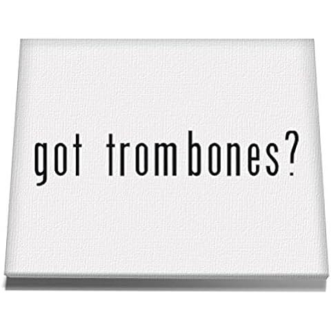 Teeburon Got Trombone? Lienzo de Pared 12 x 8 Inch