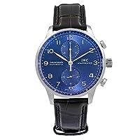 IWC Reloj de Pulsera para Hombre con cronógrafo automático, Esfera Azul, IW37...