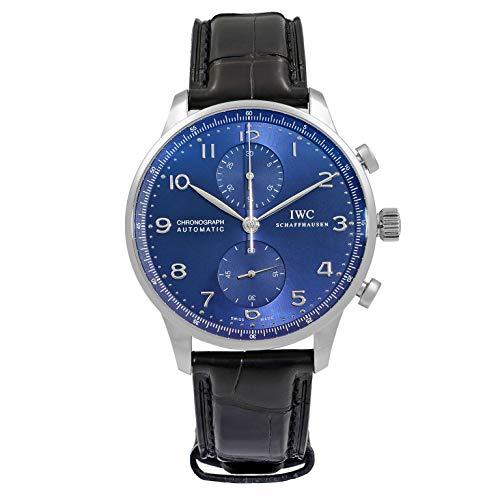 IWC Portugal IW371491 - Cronografo automatico da uomo, quadrante blu