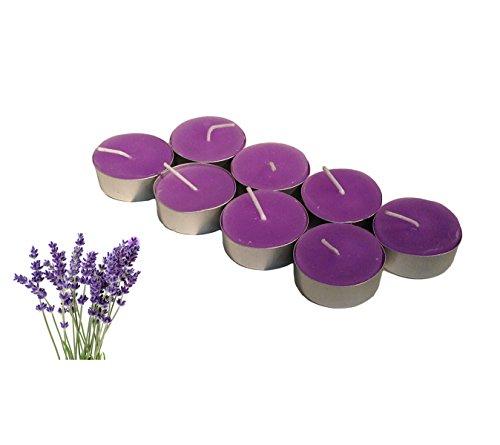 Lavendel Duft Teelichter, 10Stück Teelicht Kerzen für Garten ~ HOME ~ Hochzeit ~ Party (Soja-kerze Düfte Garten)