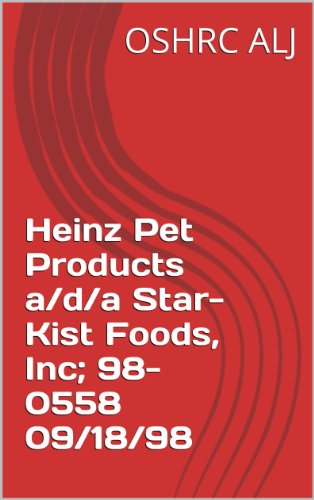 heinz-pet-products-a-d-a-star-kist-foods-inc-98-0558-09-18-98-english-edition