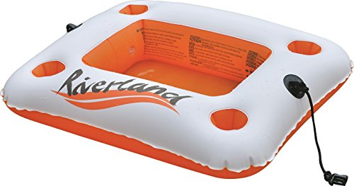 Jilong 137210 portabibite riverland gonfiabile galleggiante, bianco/arancione