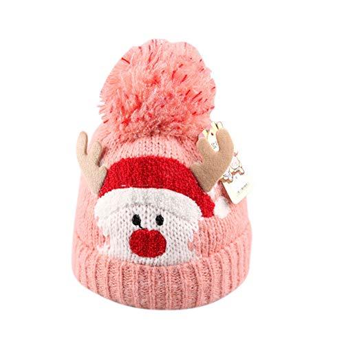 Kinder Weihnachtsschmuck Hüte, Santa Hüte Kappe für Weihnachtsfeier Requisiten rosa