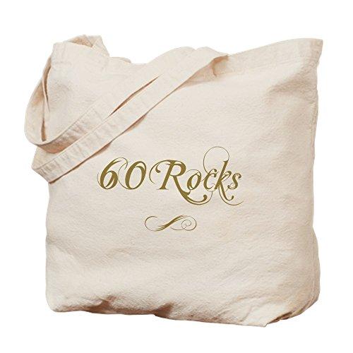 Bing Fancy Gold 60. Geburtstag-Leinwand Natur Tasche, Reinigungstuch Einkaufstasche -