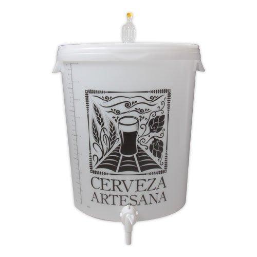 Cerveza Artesana Cubo fermentador 30l airlock Grifo