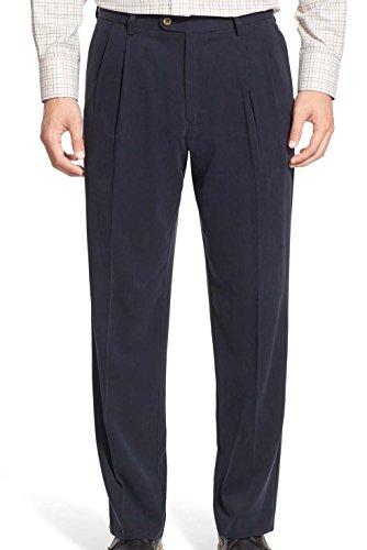 tommy-bahama-volante-fishbone-50-x-32-a-pieghe-nero-seta-abito-pantaloni