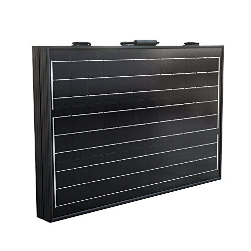 dchouse 120Watt 12Volt Off Grid Monokristallines tragbar Faltbare Solar Panel Koffer mit Lade - Koffer Solar