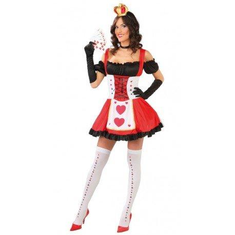 sexy Königin der Herzen Damen Kostüm Damenkostüm Karte Spielkarte Herz Dame Spielkartenkostüm Gr. S/M, Größe:M