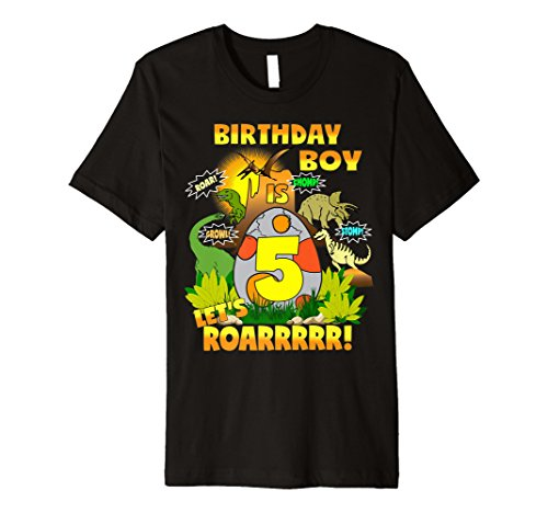 Jungen Dinosaurier Geburtstag Shirt Alter 5 Party Thema Outfit