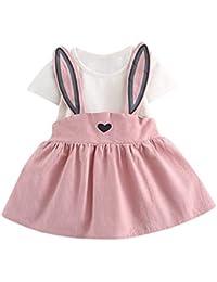 Costumi Bambina Principessa Moda Sofia Rapunzel Vestito Carnevale Manica  Corta Festa Nuziale Compleanno Cerimonia Orecchie di Coniglio Abito… 77718e134e7