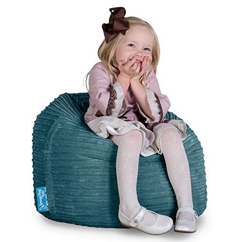 Lounge Pug®, Sitzsack Kinder, Kindersessel, Cord Türkis