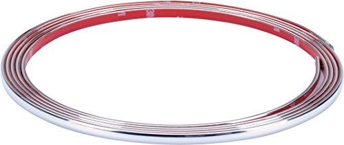 Preisvergleich Produktbild hr-imotion selbstklebende Chrom-Zierleiste - 300cm x 7mm [3M Material | Zuschneidbar | Witterungsbeständig | Hochflexibel] - 12010201