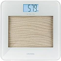 Grundig PS 3411 Bilancia pesapersone elettronica Quadrato Sabbia, Bianco