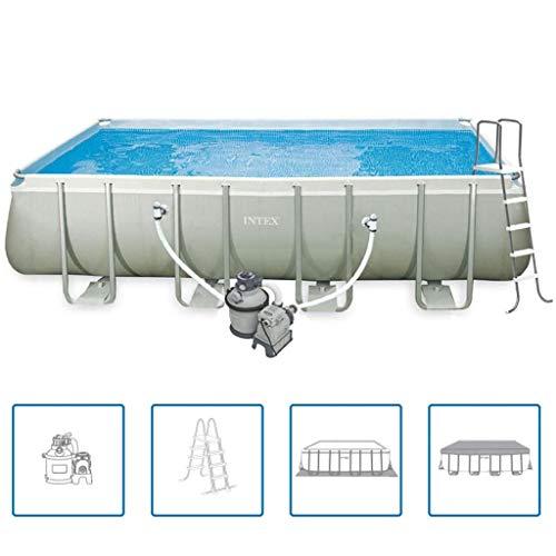 Intex Ultra 28352GN Set piscina rettangolare telaio 549 x 274 132 cm