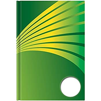 blanko DIN A5 Notizbuch schwarz mit grünen Ecken 96 Blatt 5x Kladde