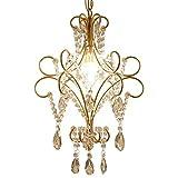 Vinteen Mini Style 1-flächenbündig Kristall-Kronleuchter Deckenleuchte Eisenkunst Moderne Goldlen Hängelampen [Energieklasse A +]