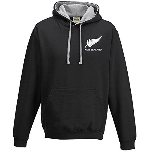 Sudadera hombre escudo selección rugby Nueva Zelanda