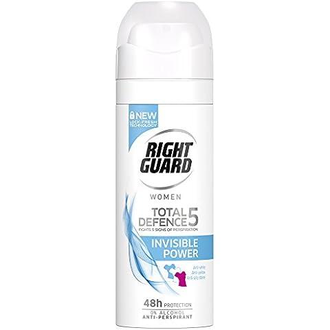 Right Guard Donne Totale di Difesa 5 invisibile anti-traspirante Deodorante