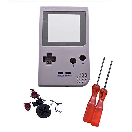Xingsiyue Reemplazo Lleno Housing Cáscara Cubrir Caso Piezas de Reparación Set w/Lente&Destornillador para Nintendo Gameboy Pocket GBP Consola