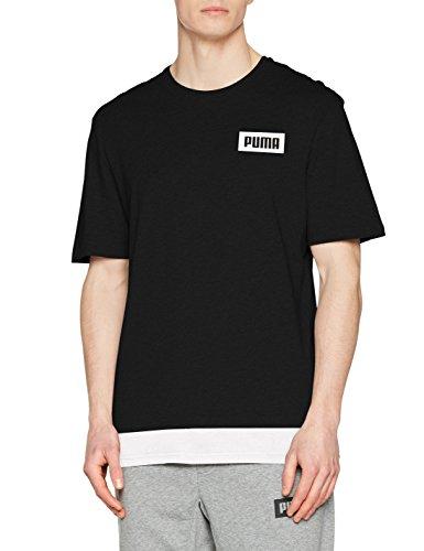 PUMA Men Power Rebel Logo Tee T-shirt , Farben:Bleu;Größe Bekleidung:XXL