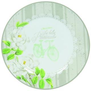 Novastyl 8010443 Belle Promenade Lot de 6 Assiettes Porcelaine Blanc 19 x 19 x 1,5 cm