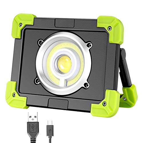 Lcxligang Tragbares geführtes Arbeitslicht Wieder aufladbares kampierendes Licht-Pfeiler-Scheinwerfer USBs im Freien for das Notwandern - Coleman Rot Taschenlampe