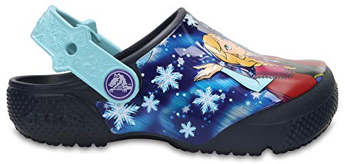 Crocs Fun Lab Frozen Clog, Mädchen Clogs, Blau (Navy), 23/24 EU
