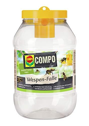 COMPO Wespen-Falle, Insektizidfrei, Bis zu 3 Wochen Langzeitwirkung, Wiederbefüllbar