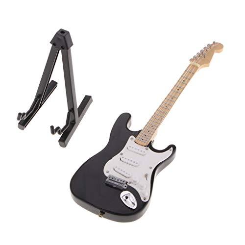 Musikinstrument Holzgitarre & E-gitarre Modell für 12 Zoll Action Figuren Puppe (2pcs/Set) ()