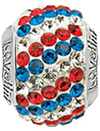 Lovelinks 11831003-24 'Flag, Diagonal' Crystal Bead